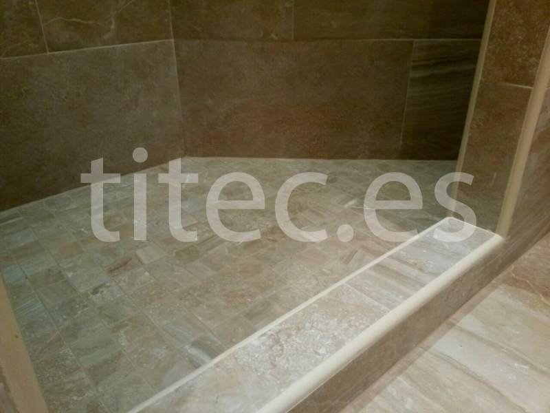 great bao travertino gresite with cuartos de bao con gresite - Gresite Bao